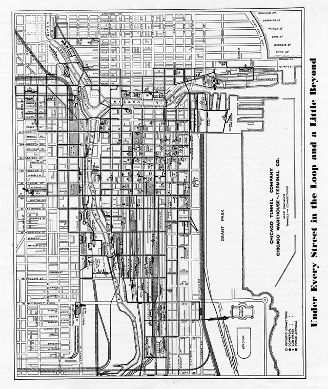 Chicago Underground Tunnels Map Pictures To Pin On