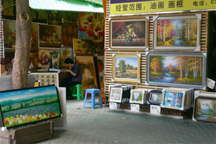 Dafen Oil Painting Village in Shenzhen, Guangdong China